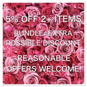🛍🌸5% OFF 2+ ITEMS WHEN YOU BUNDLE🌸🛍